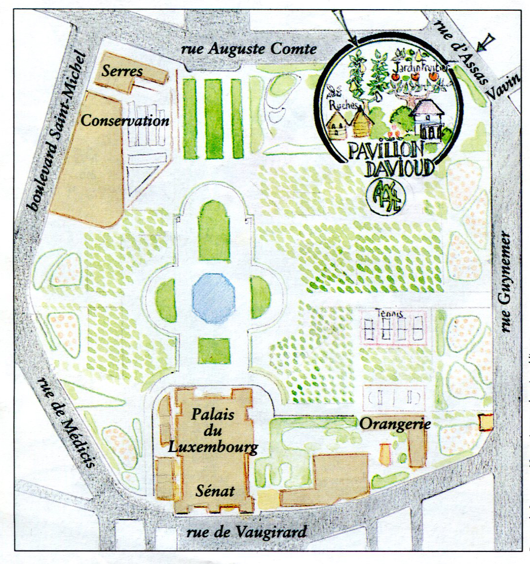 Plan des jardins du Pavillon Davioud